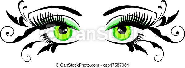 eyes floral - csp47587084