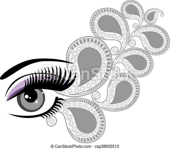 eyes floral - csp38935510