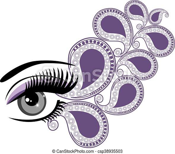 eyes floral - csp38935503