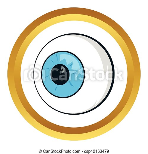eyes vector icon in golden circle cartoon style isolated on rh canstockphoto com eye vector art eye vector logo
