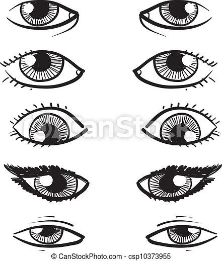 Eyes vector sketch - csp10373955