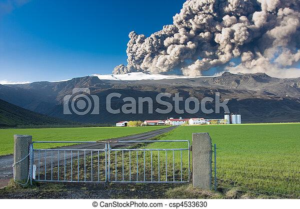 Eyjafjallajokull eruption - csp4533630