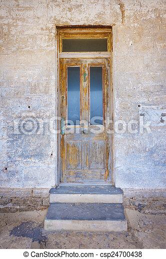 fából való, elülső, öreg, ajtó - csp24700438