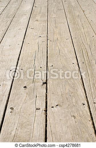 fából való, grunge, körmök, öreg, emelet - csp4278681
