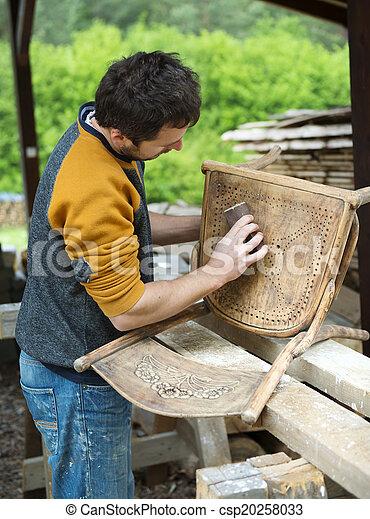 fából való, restaurálás, berendezés - csp20258033