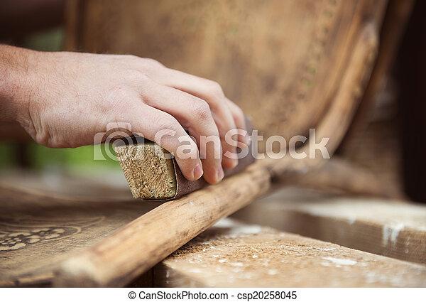 fából való, restaurálás, berendezés - csp20258045