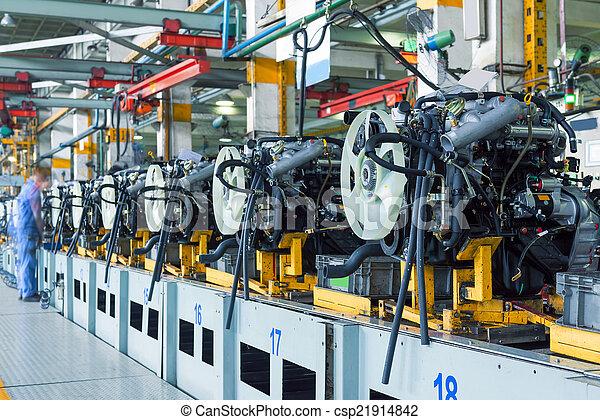 fábrica de automóviles, asamblea - csp21914842