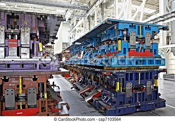 fábrica de automóviles, estampar, líneas - csp7103564