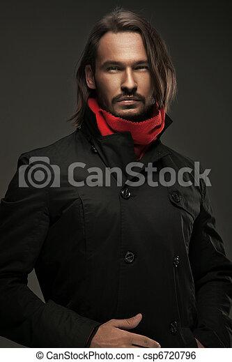 fárasztó, ősz, pasas, jelentékeny, öltözék - csp6720796