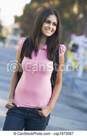 fárasztó, egyetem hallgató, hátizsák - csp1873067
