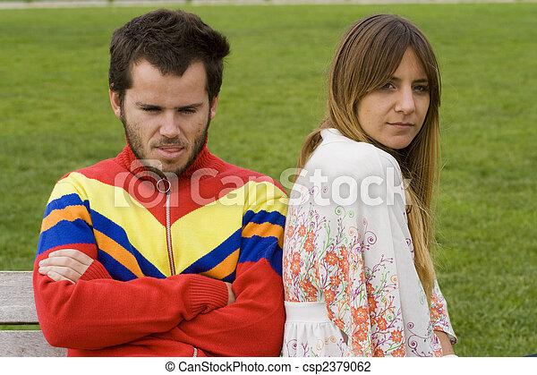 fâché, couple - csp2379062