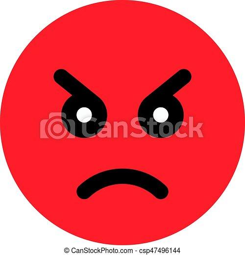 Fache Emoji Canstock
