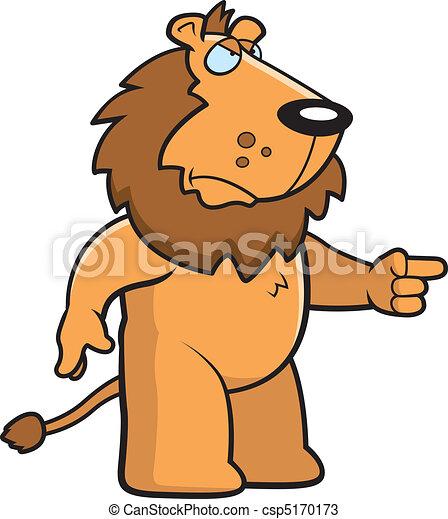 fâché, lion - csp5170173