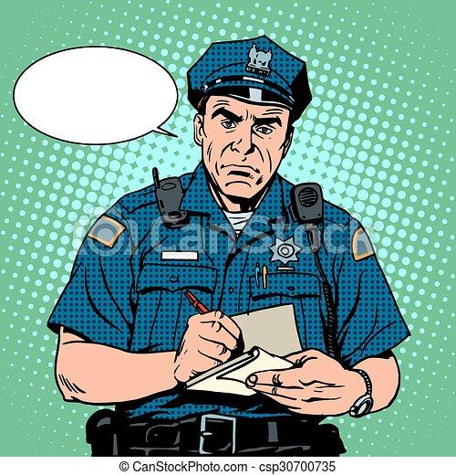fâché, policier - csp30700735