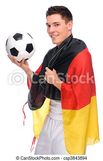 Junger Deutscher Fußballfan