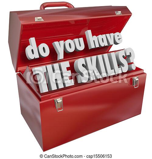 fähigkeiten, fähigkeiten, erfahrung, haben, sie, werkzeugkasten - csp15506153
