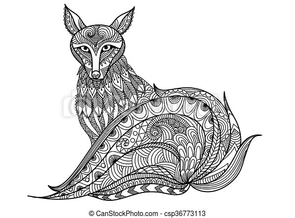 Arctic Foxes That Are Hard But Cute Coloring Pages