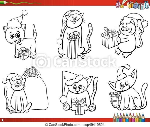 Charmant Weihnachten Cartoon Färbung Bilder Ideen - Framing ...