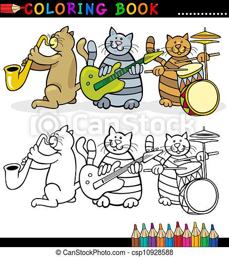 Cats Band für das Einfärben von Buch oder Seite - csp10928588