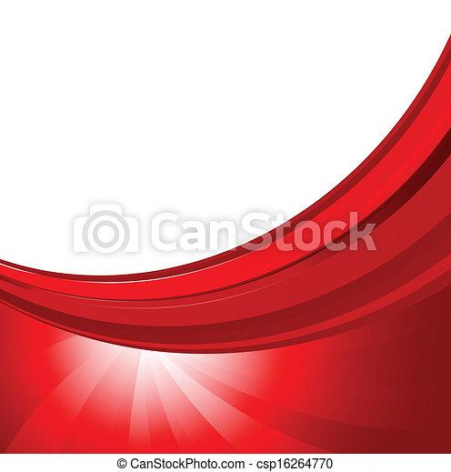 färg, abstrakt, bakgrund, röd - csp16264770