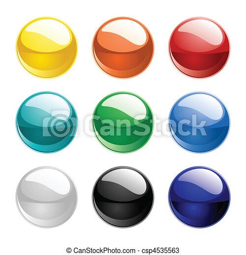 färg, spheres, vektor - csp4535563