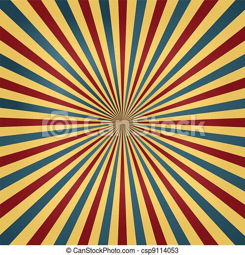 färger, cirkus, sunburst, bakgrund - csp9114053