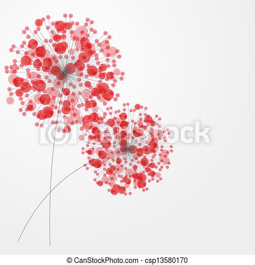 färgrik, abstrakt, illustration, flowers., vektor, bakgrund - csp13580170