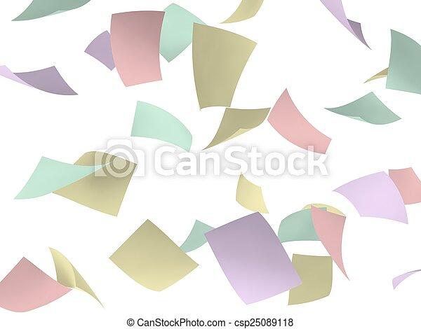 färgrik, papper - csp25089118
