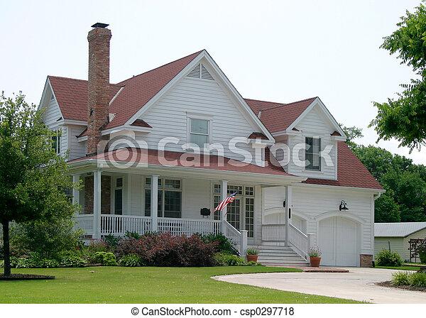 färsk, gammal, hus - csp0297718