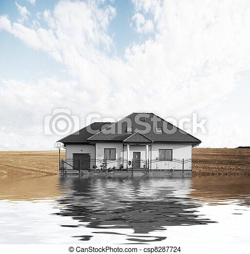 färsk, vision, hus - csp8287724