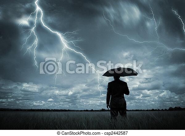 fångat, oväder - csp2442587