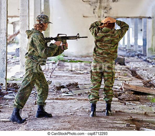 fånge, -, krig, kvinnor - csp8712293