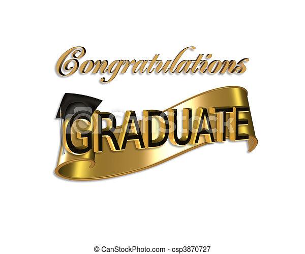 félicitations, remise de diplomes - csp3870727