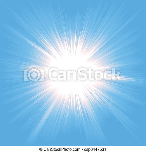 fény, starburst, ég - csp8447531