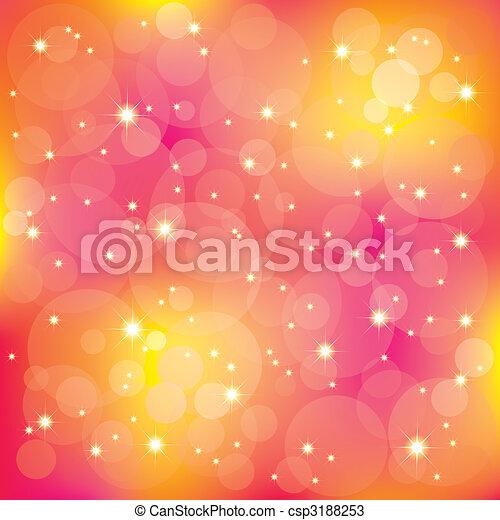 fény, szikrázó, háttér, színes, csillaggal díszít - csp3188253