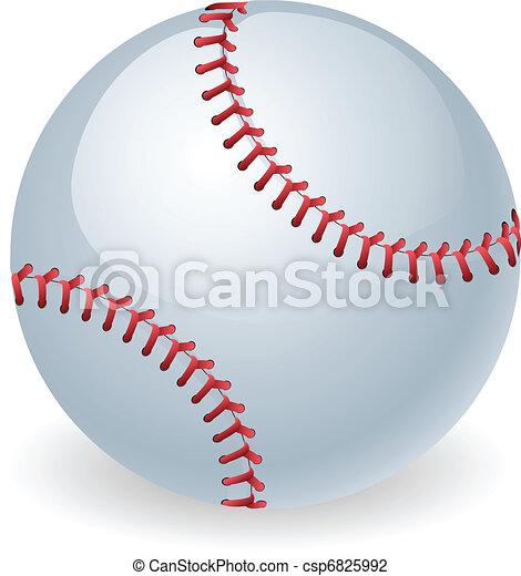 fényes, labda, baseball, ábra - csp6825992