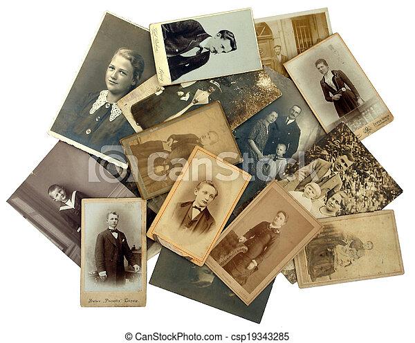 fénykép, history:, öreg, kazal, család - csp19343285