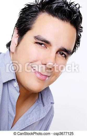 férfiak, arc - csp3677125
