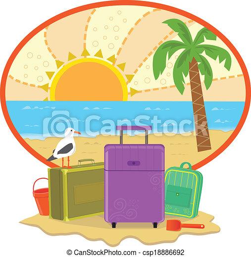 férias, ícone - csp18886692