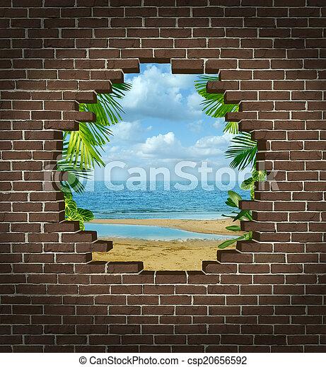 férias, fuga - csp20656592