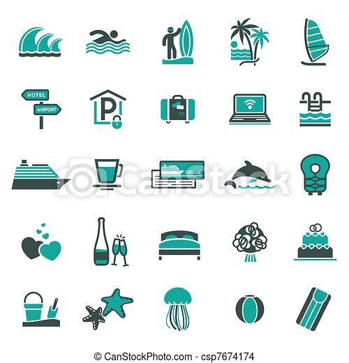 férias, recreation., signs. - csp7674174