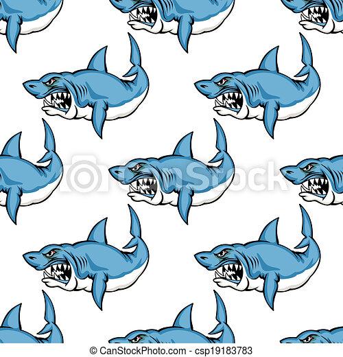 féroce, requin, avide, natation - csp19183783