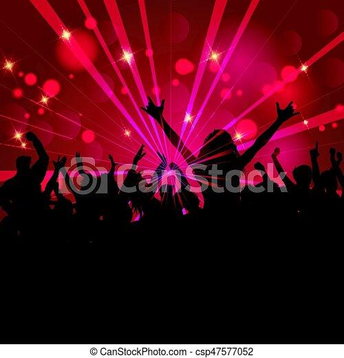 fête, 1105, foule - csp47577052