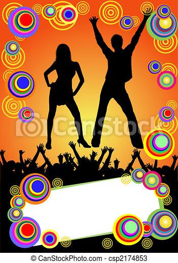 fête, affiche, coloré - csp2174853