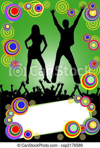 fête, affiche, coloré - csp2176589