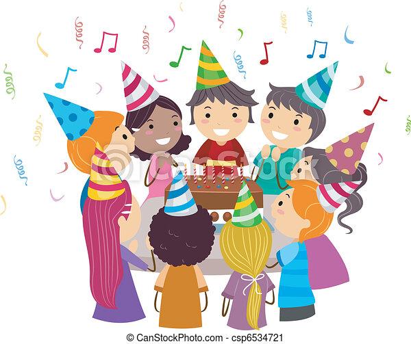 fête, anniversaire - csp6534721