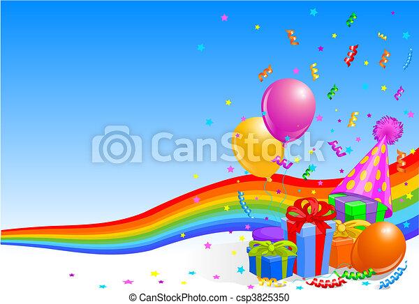 fête, anniversaire, fond - csp3825350