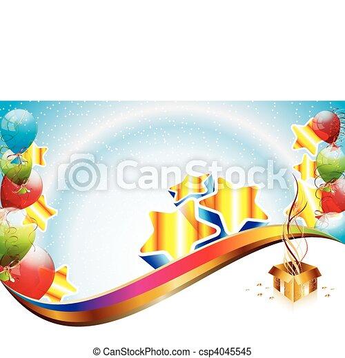 fête, anniversaire, gabarit - csp4045545