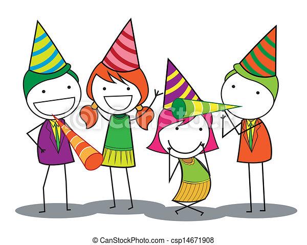 fête, anniversaire, gens - csp14671908