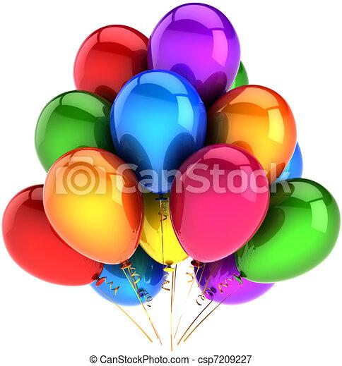 fête, ballons, coloré, arc-en-ciel - csp7209227